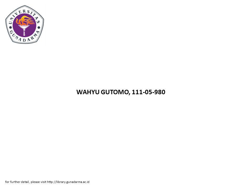 Abstrak ABSTRAK WAHYU GUTOMO, 111-05-980 APLIKASI DATABASE INTERKONEKSI MSC JNOM- PT.