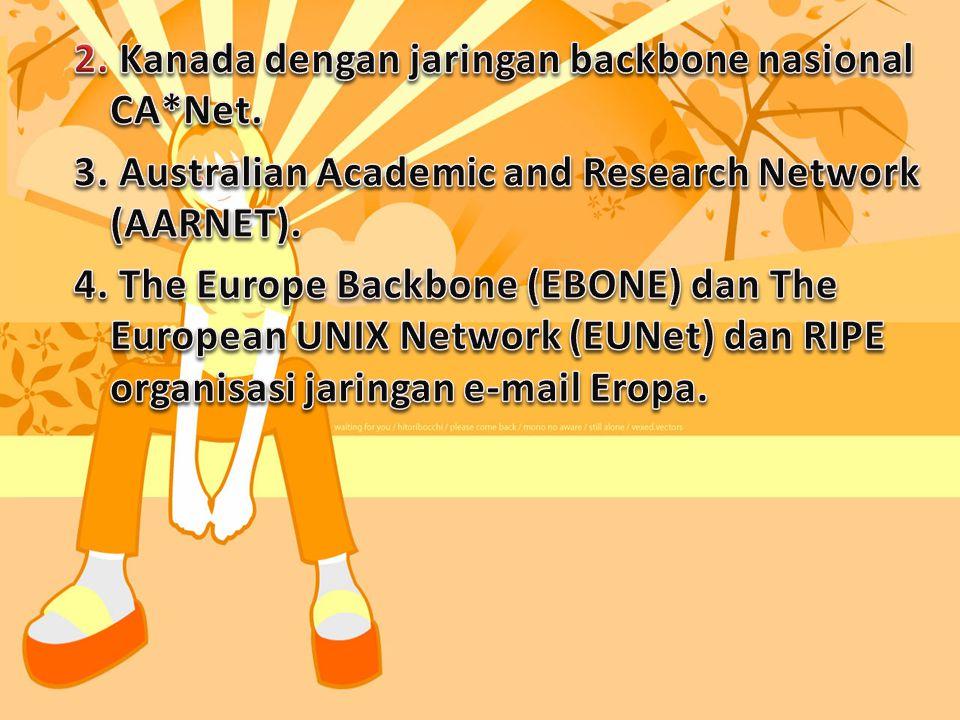 Pengesahaan RUU NREN (National Research and Education Network) oleh Kongres Amerika pada Desember 1991. Ditambah 8 aliansi jaringan regional yang terg