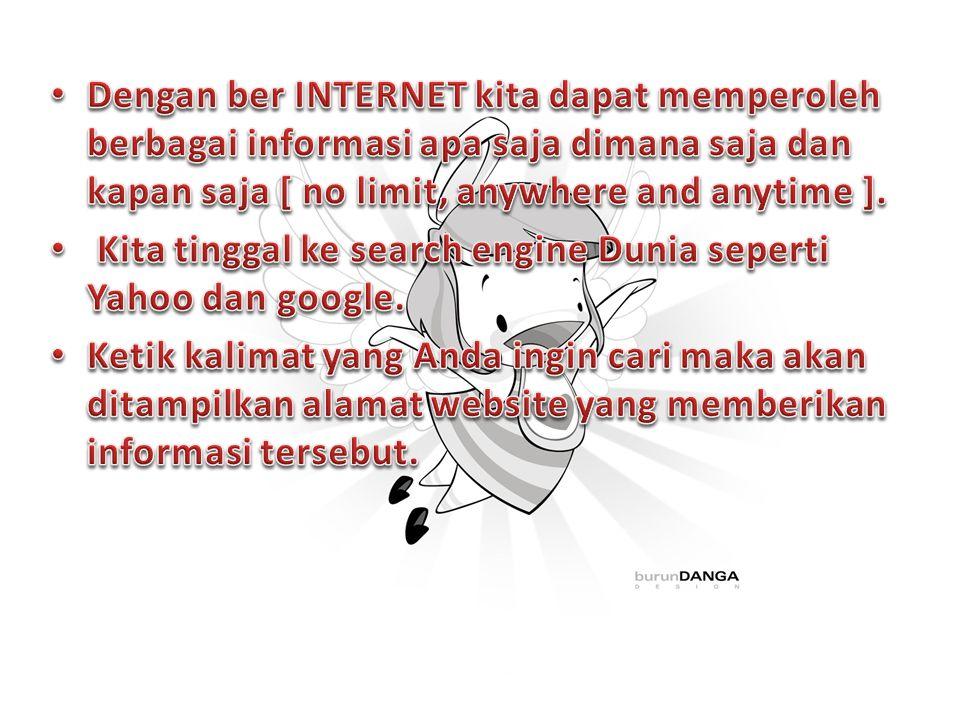 Node terdiri dari pusat informasi dan database,peralatan komputer dan perangkat interkoneksi jaringan serta peralatan yang dipakai pengguna untuk mencari, menempatkan dan atau bertukar informasi di Internet.