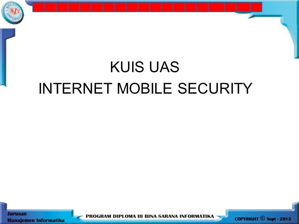 10.Suatu fasilitas dari teknologi GSM yang memungkinkan mobile station mengirim dan menerima pesan singkat berupa text, yaitu: a.