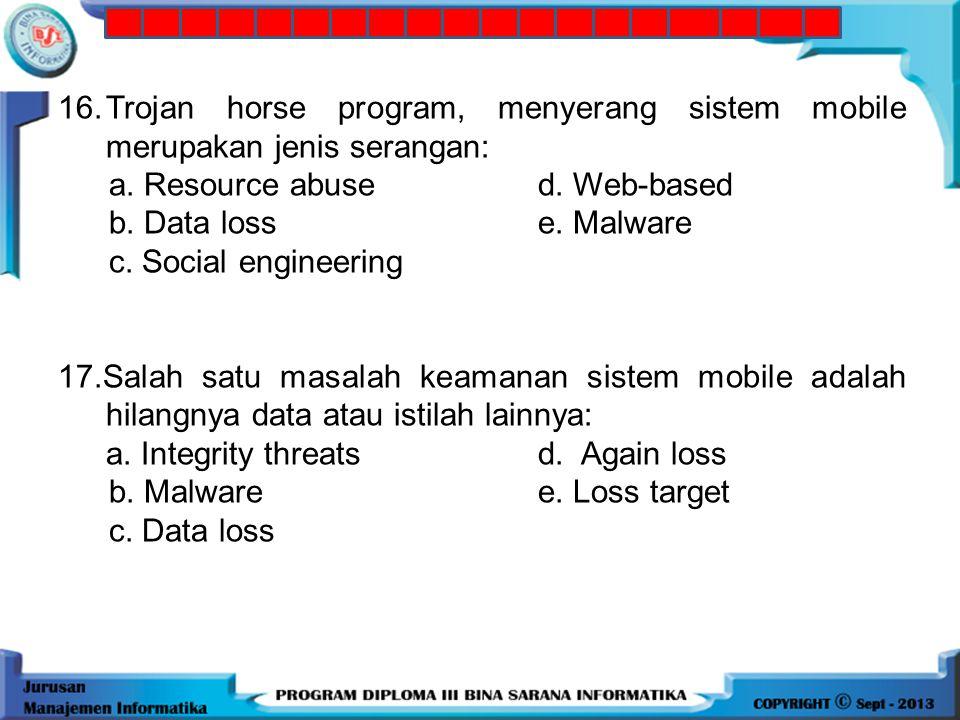 15. Security yang memiliki fasilitas