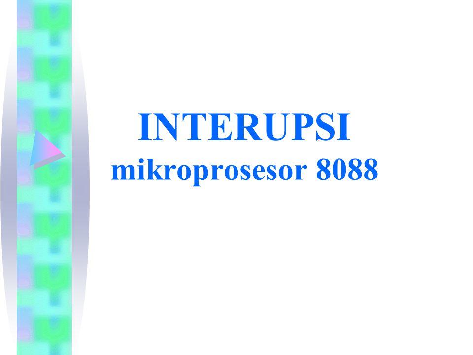 INTERUPSI mikroprosesor 8088