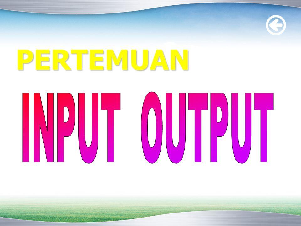 Tiga komponen utama :  CPU  Memori (primer dan sekunder)  Peralatan masukan/keluaran (I/O devices) seperti printer, monitor, keyboard, mouse, dan modem Sistem Komputer
