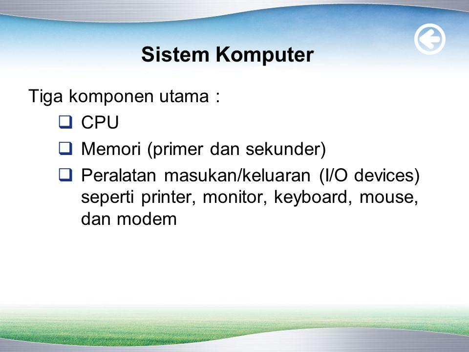  Human Readable, yaitu perangkat yang berhubungan dengan manusia sebagai pengguna komputer.