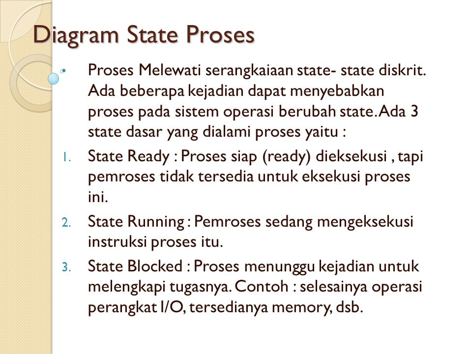 Diagram State Proses