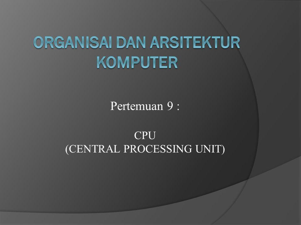 KOMPONEN UTAMA CPU 1.ArihtmeticLogikalUnit (ALU) 2. Control Unit 3. Register 4. Internal Bus