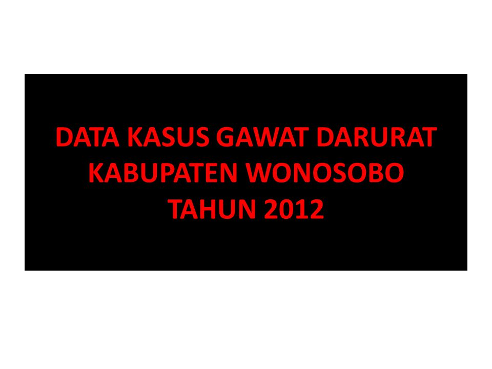 DATA KLL DI PUSKESMAS 2012