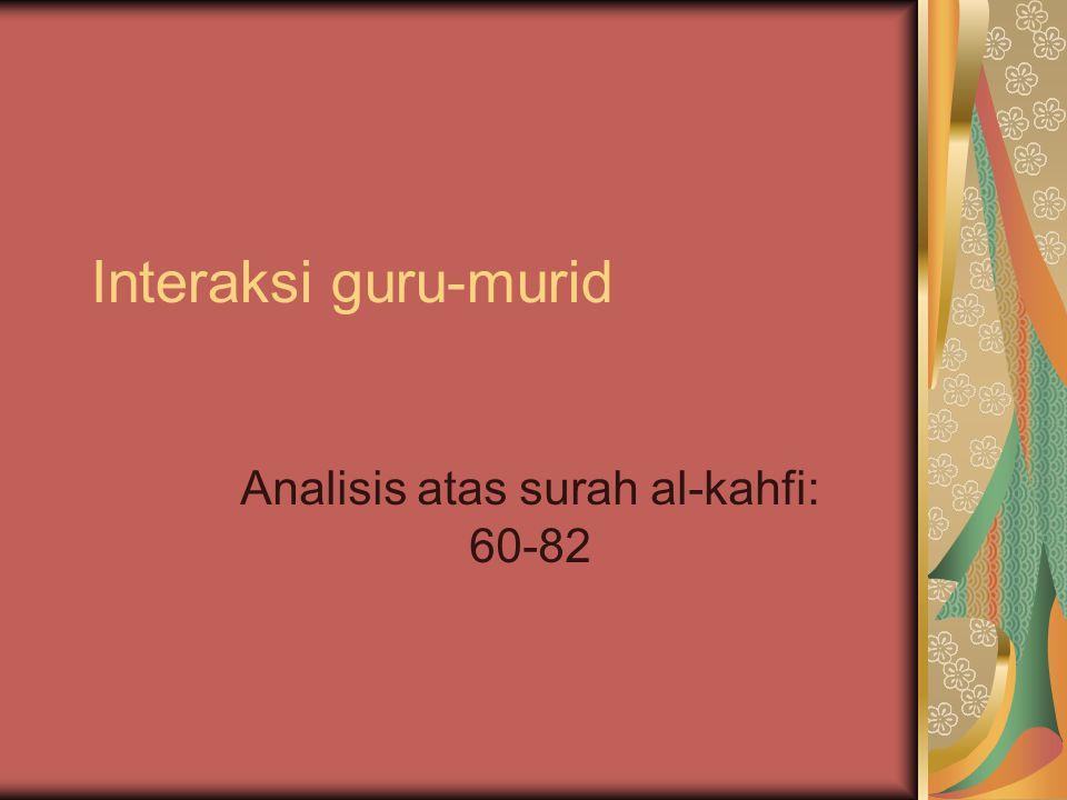 Interaksi guru-murid Analisis atas surah al-kahfi: 60-82