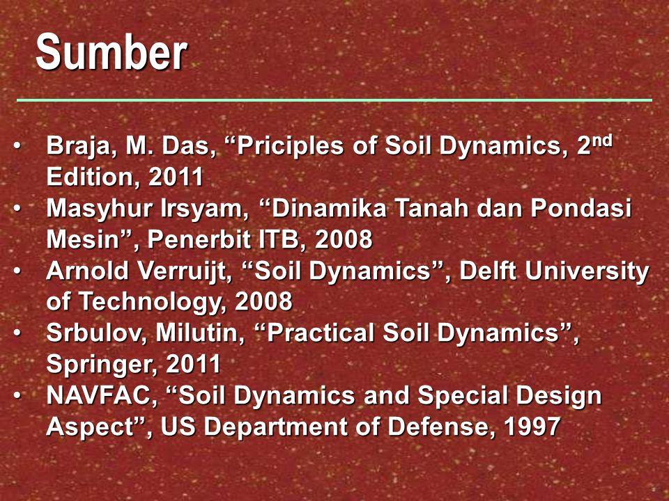 Sumber Braja, M.Das, Priciples of Soil Dynamics, 2 nd Edition, 2011Braja, M.