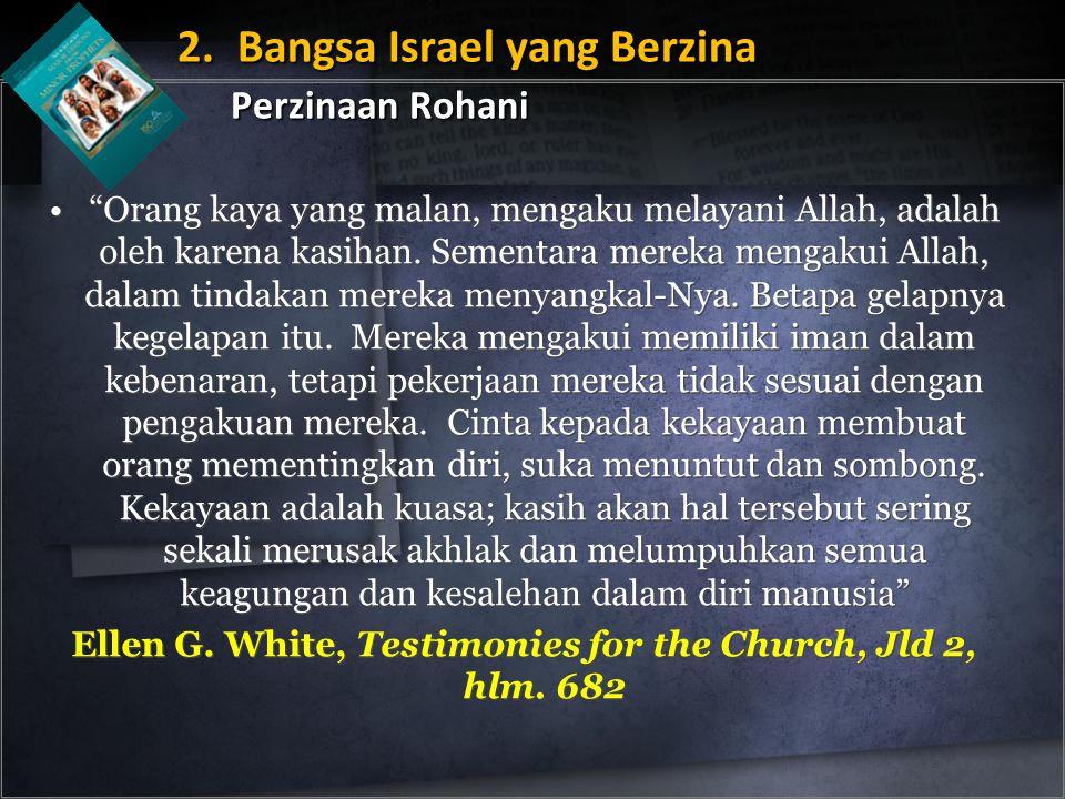 """""""Orang kaya yang malan, mengaku melayani Allah, adalah oleh karena kasihan. Sementara mereka mengakui Allah, dalam tindakan mereka menyangkal-Nya. Bet"""