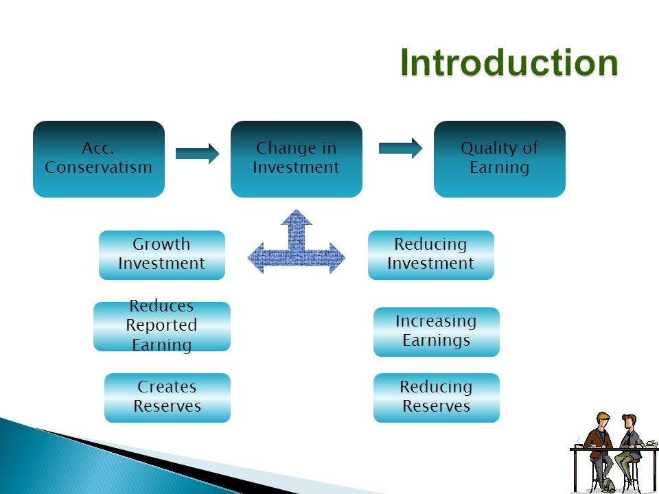  Kontribusi : metode akuntansi mempengaruhi kualitas laba  Reported earnings : kualitas baik : indikator yg baik dari future earnings High Quality earnings Sustainable earnings Poor Quality earnings Unsustainable earnings