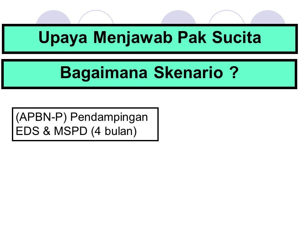 Upaya Menjawab Pak Sucita (APBN-P) Pendampingan EDS & MSPD (4 bulan) Bagaimana Skenario