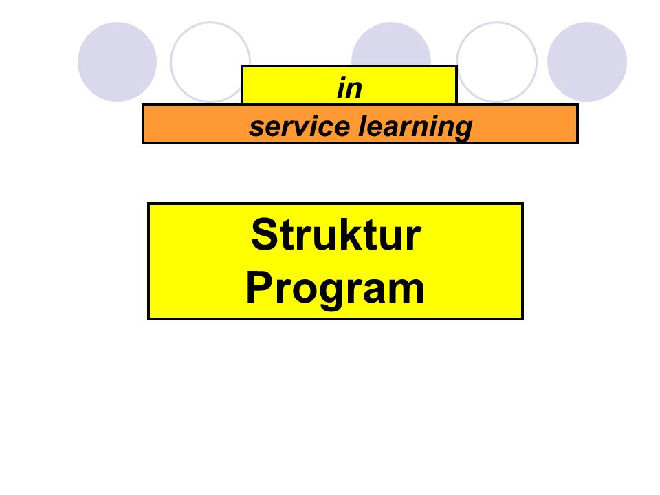 Struktur Program in service learning