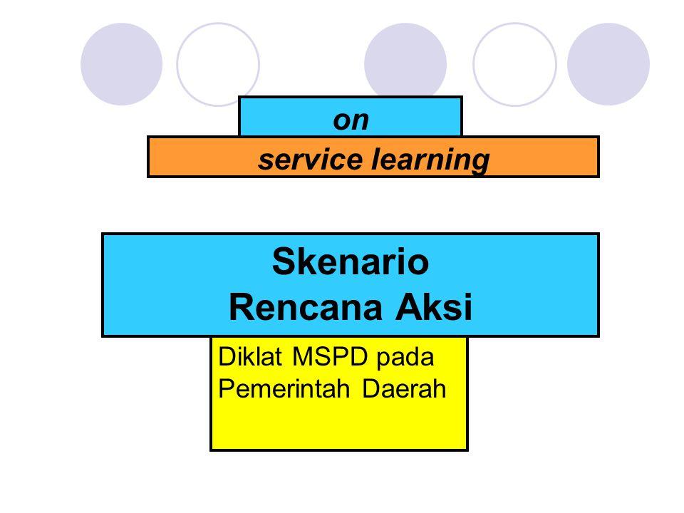 on service learning Skenario Rencana Aksi Diklat MSPD pada Pemerintah Daerah