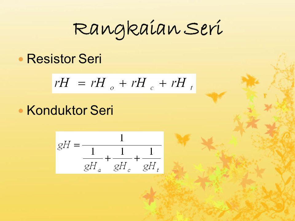 Gambar 1: Resistor seri : resistansi dan temperatur dari inti hewan ke udara sekitar.