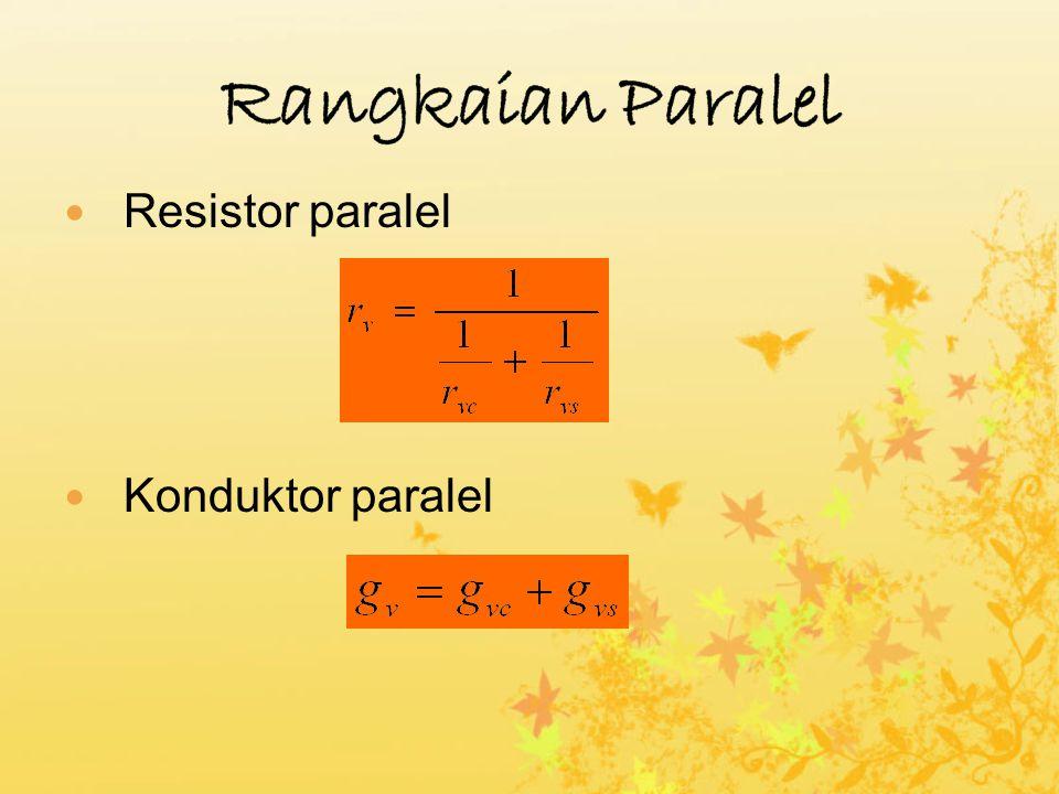 Resistor paralel Konduktor paralel