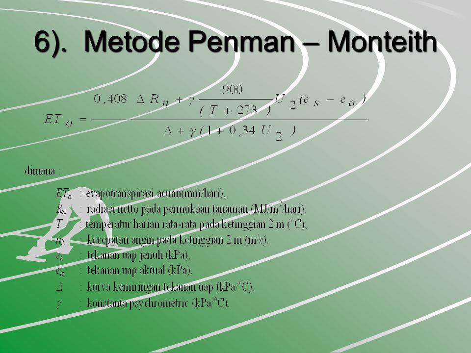 6). Metode Penman – Monteith 6). Metode Penman – Monteith