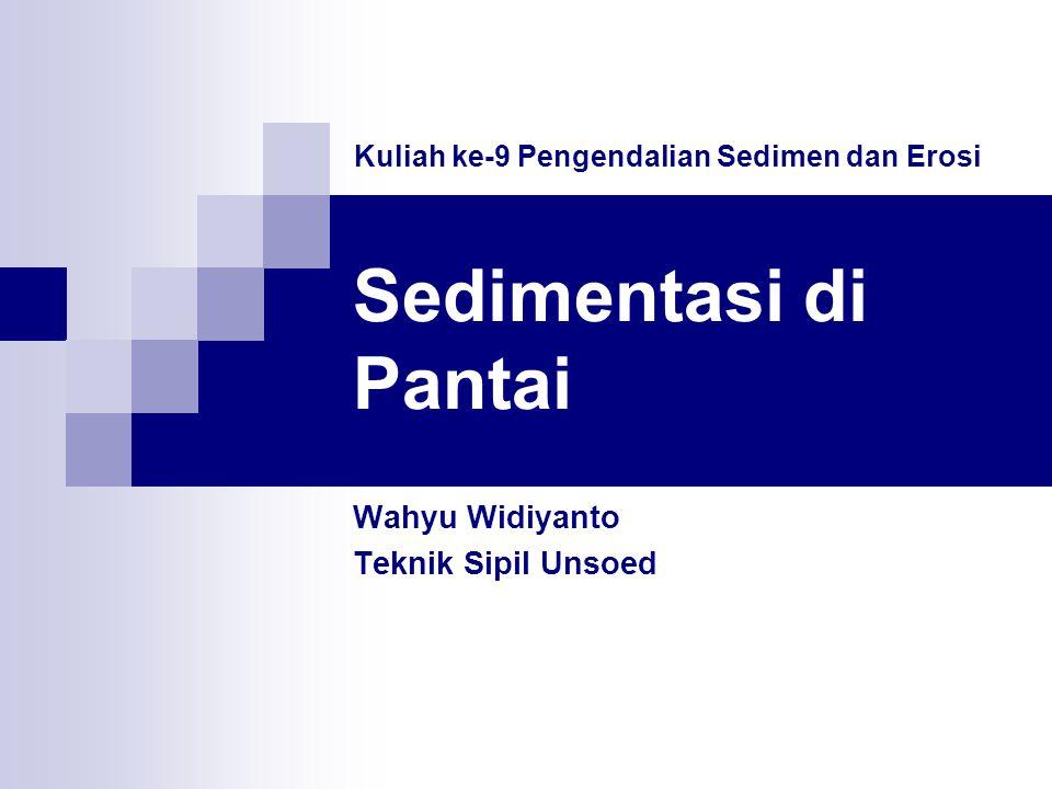 Sedimentasi di Pantai Wahyu Widiyanto Teknik Sipil Unsoed Kuliah ke-9 Pengendalian Sedimen dan Erosi