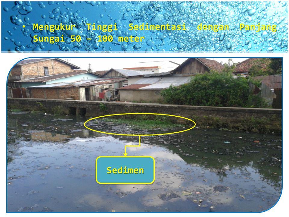 Mengukur Tinggi Sedimentasi dengan Panjang Sungai 50 – 100 meter Mengukur Tinggi Sedimentasi dengan Panjang Sungai 50 – 100 meter SedimenSedimen