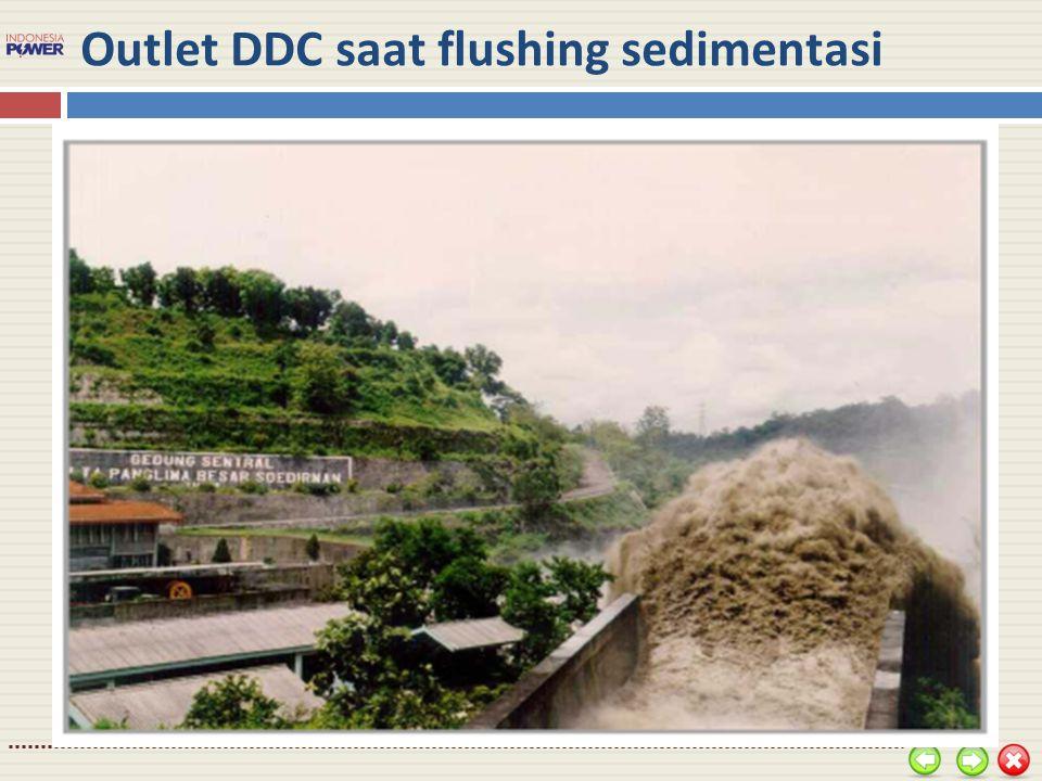 Outlet DDC saat flushing sedimentasi