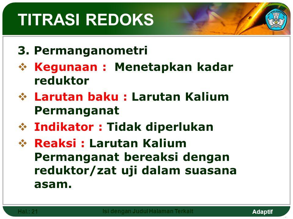 Adaptif TITRASI REDOKS 3.