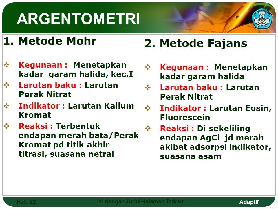 Adaptif ARGENTOMETRI 1.