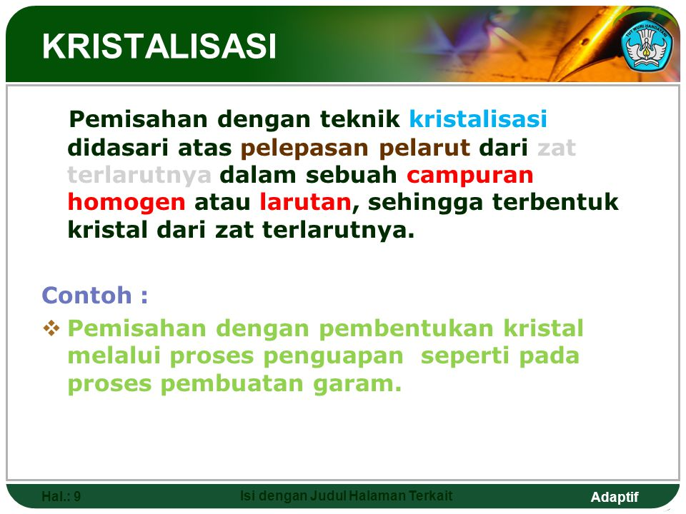 Adaptif TITRASI REDOKS 1.