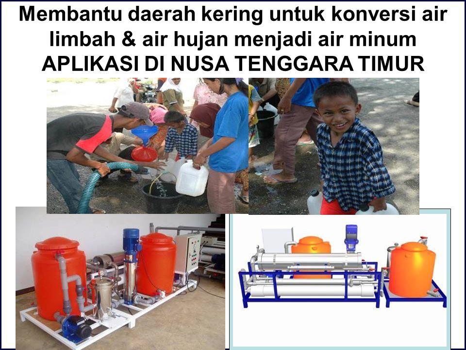 Mengkonversi air limbah hotel sehingga tidak perlu membayar biaya air yang mahal APLIKASI HOTEL JAYAKARTA