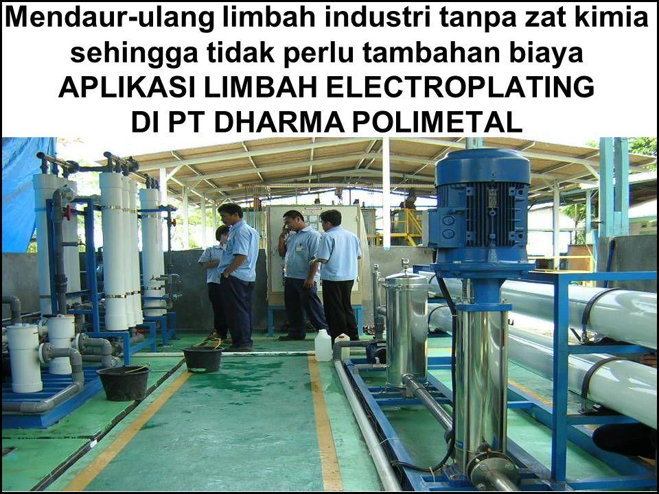 Mengubah air sumur menjadi air Demin untuk Industri tanpa memakai bahan kimia dengan biaya operasi yang sangat rendah APLIKASI PT MEDCO ENERGY, KALTIM