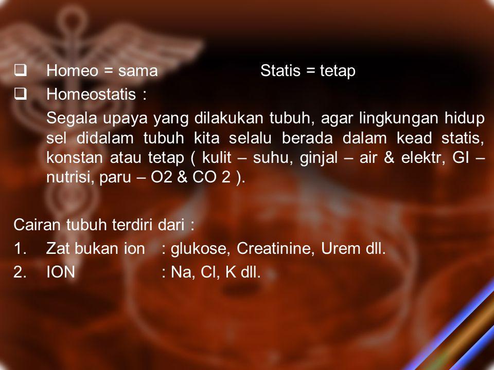 C.Water Excess Kehilangan Na >> H2O Terjadi pada : Pemberian infus Gluc 5% / NaCl 0.45% pada px yg berpuasa berhari – hari, Diare, Ileus, TURP dll.