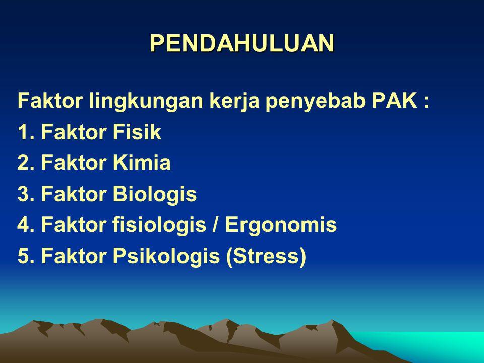 GAS / UAP IRITAN - Menyebabkan iritasi - korosi - Contoh : NH 3, formaldehid, ozon, NO x, SO x, H 2 S, HCl, Cl 2, kromium, dll.