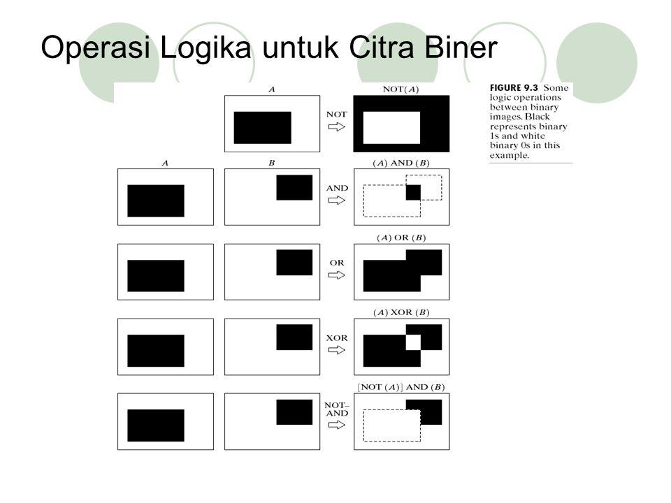 Operasi Logika untuk Citra Biner