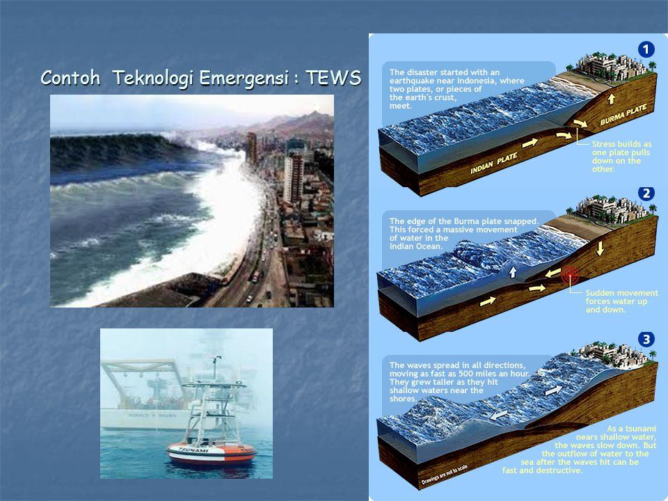 Contoh Teknologi Emergensi : TEWS