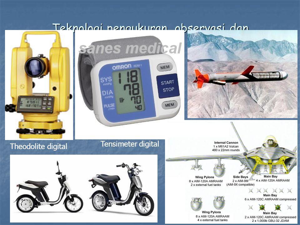 Teknologi pengukuran, observasi dan pengendalian Theodolite digital Tensimeter digital
