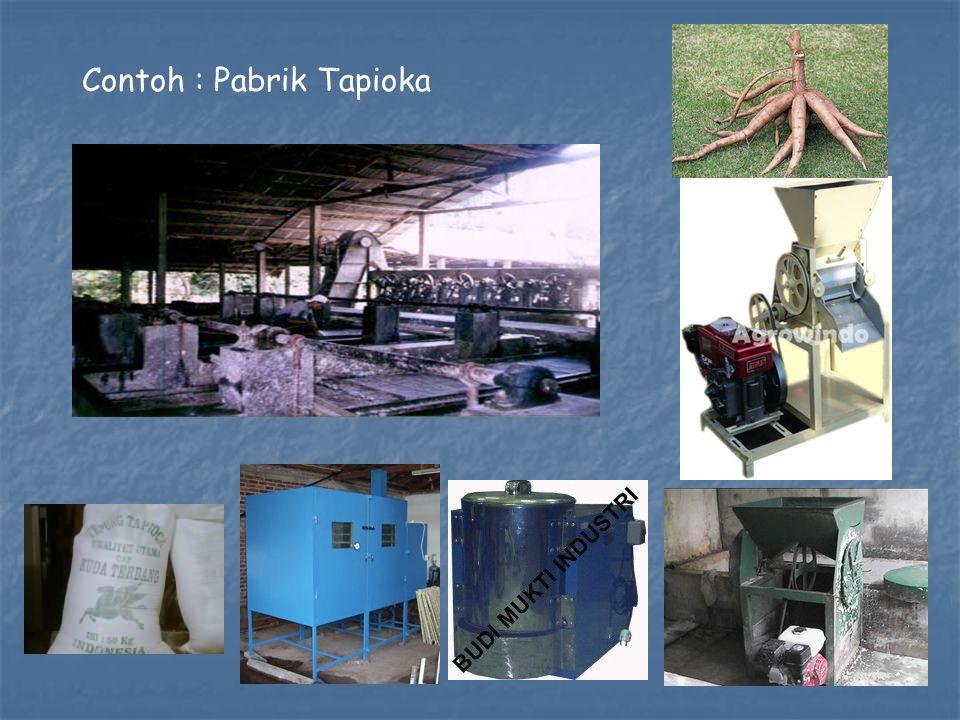 Contoh : Pabrik Tapioka