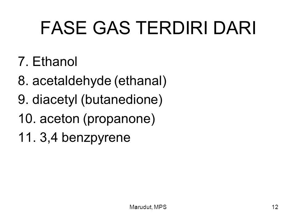 Marudut, MPS12 FASE GAS TERDIRI DARI 7.Ethanol 8.