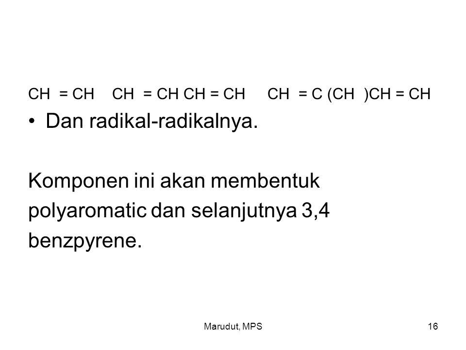 Marudut, MPS16 CH = CH CH = CH CH = CH CH = C (CH )CH = CH Dan radikal-radikalnya.