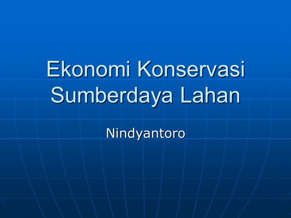 Ekonomi Konservasi Sumberdaya Lahan Nindyantoro