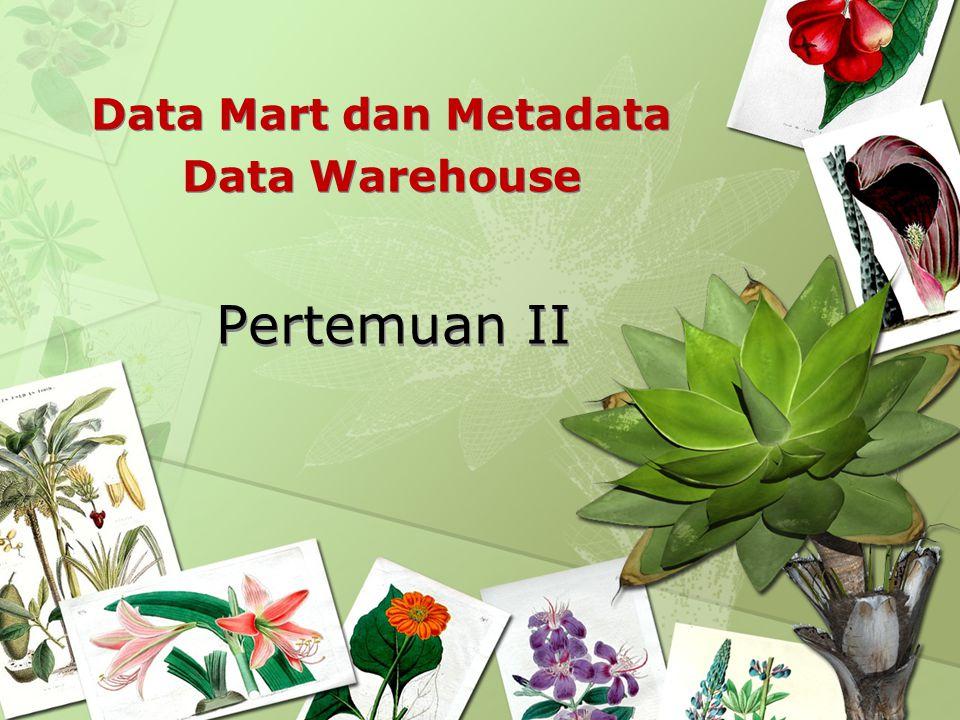 Pertemuan II Data Mart dan Metadata Data Warehouse Data Mart dan Metadata Data Warehouse