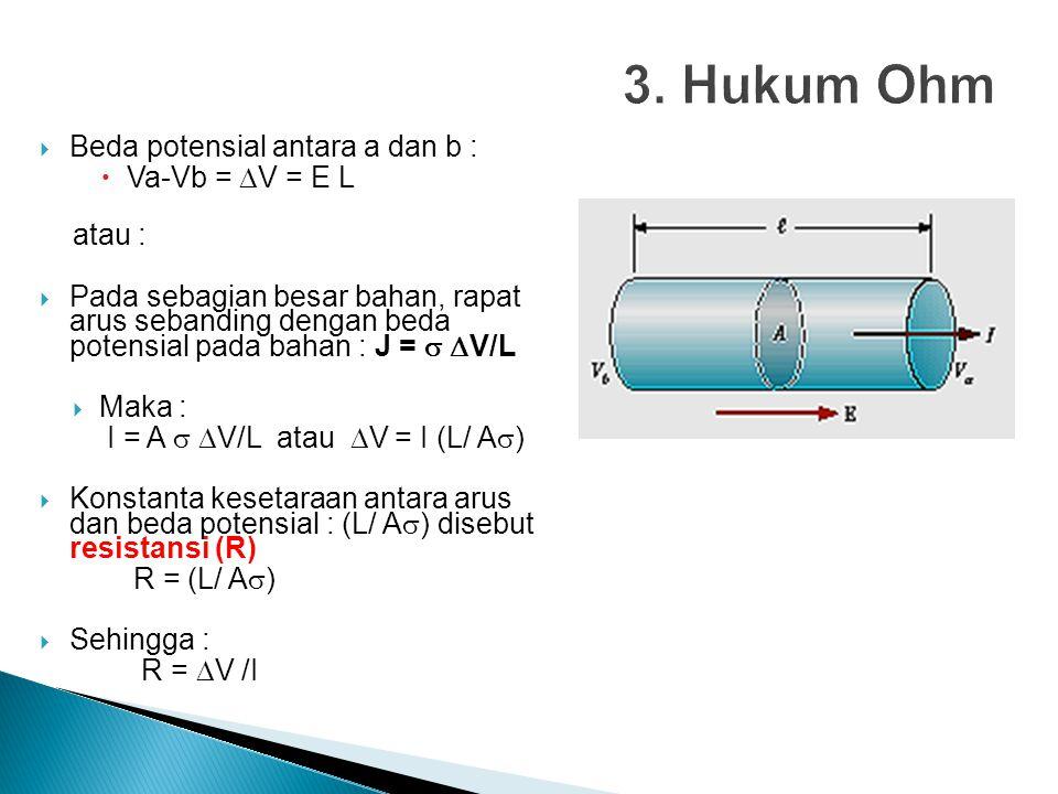  Laju hilangnya energi pada resistor :  Daya (P) menggambarkan laju energi yang diberikan baterei oleh Q ke resistor.