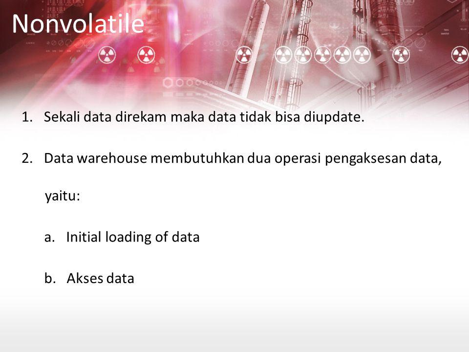 Nonvolatile 1.Sekali data direkam maka data tidak bisa diupdate.