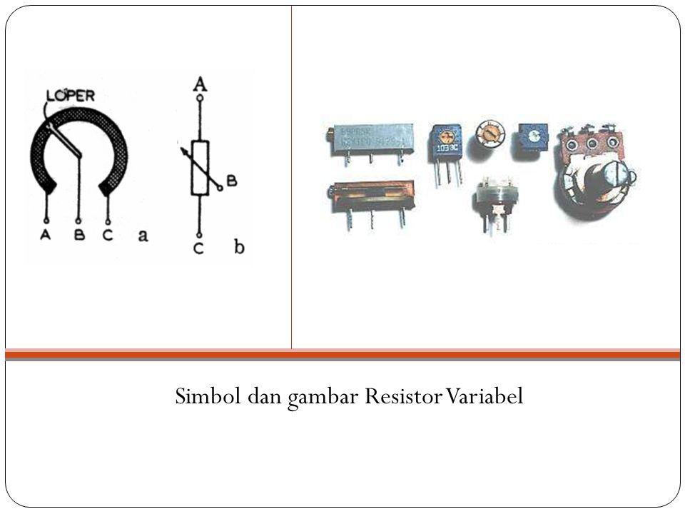 Simbol dan gambar Resistor Variabel