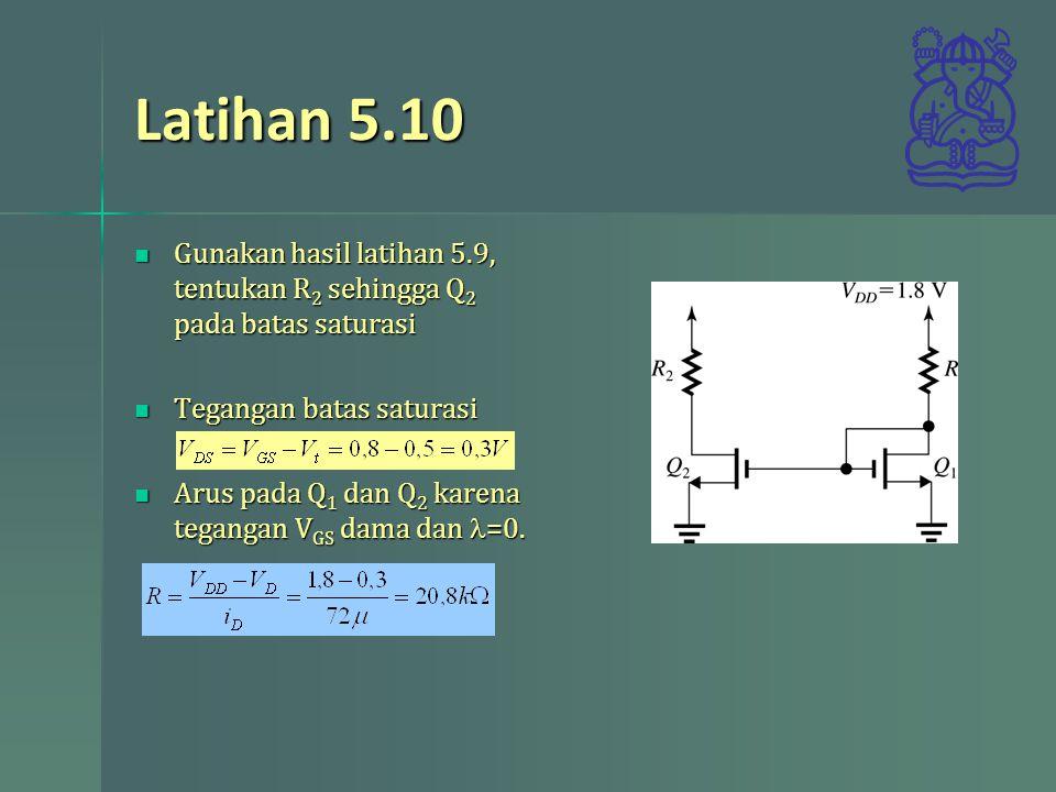 Latihan 5.10 Gunakan hasil latihan 5.9, tentukan R 2 sehingga Q 2 pada batas saturasi Gunakan hasil latihan 5.9, tentukan R 2 sehingga Q 2 pada batas