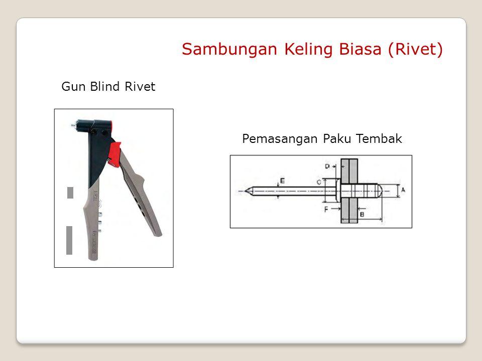 Gun Blind Rivet Sambungan Keling Biasa (Rivet) Pemasangan Paku Tembak
