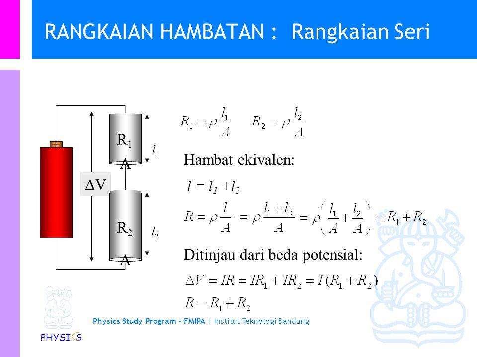 Physics Study Program - FMIPA | Institut Teknologi Bandung PHYSI S Resistivitas vs suhu… (superconductor)