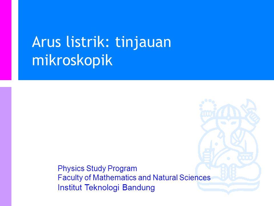 Physics Study Program - FMIPA | Institut Teknologi Bandung PHYSI S Daya terdisipasi dalam resistor Energi potensial = Muatan x Potensial Daya adalah p