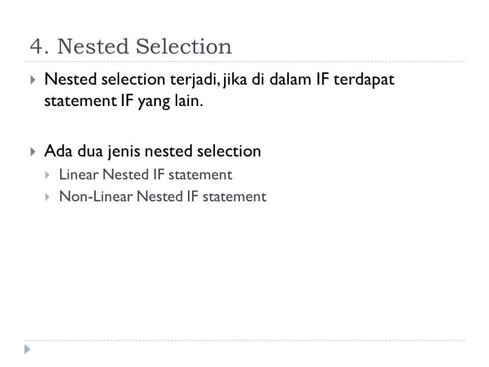 3. Nested Selection  Tabel kebenaran