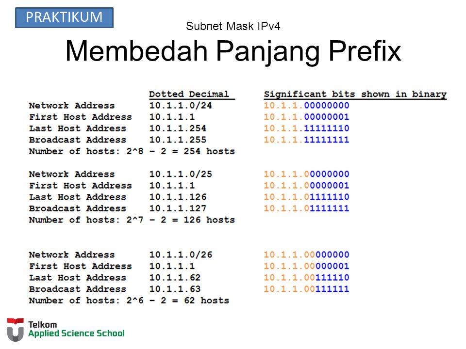 Subnet Mask IPv4 Membedah Panjang Prefix PRAKTIKUM