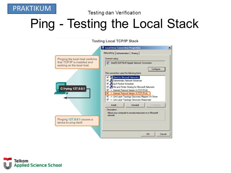 Testing dan Verification Ping - Testing the Local Stack PRAKTIKUM