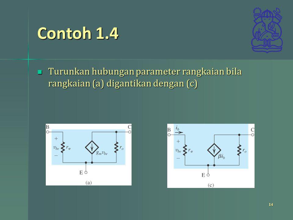 Contoh 1.4 Perhatikan rangkaian Perhatikan rangkaian 15